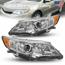 For 2012 2013 2014 Toyota Camry SE Projector Headlight White Left Right Pair $106.99
