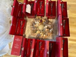 WATERFORD 12 Days of Christmas Champagne Flute 12 Flutes in IndividualRed Chest $1499.99