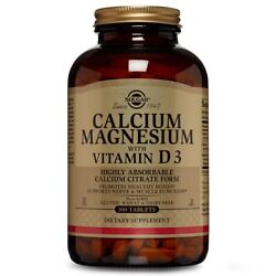 Solgar Calcium Magnesium with Vitamin D3 300 Tablets FREE US SHIPPING $26.34