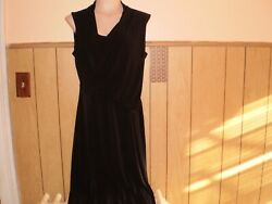 CONNECTED APPAREL WOMEN#x27;S SLEEVELESS BLACK DRESS SIZE 10 $12.00