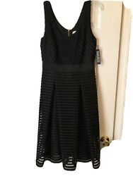 NYamp;Co Black Dress With Netting Overlay Size 10 $18.00