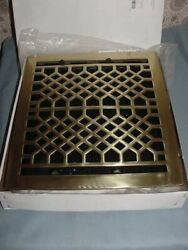 Signature Polished Brass Floor Register Louvers 12x14 ANT1214BR PB Whittington $59.50