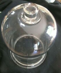 antique glass bell jar heavy glass $60.00