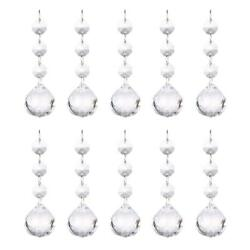 10 Clear Crystal Ball Pendant Chandelier Prisms Hanging Drops Light Replacement $16.14