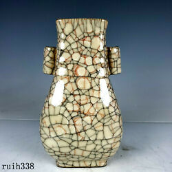 China Porcelain antique Song dynasty Brother kiln Through the ear bottle $167.20