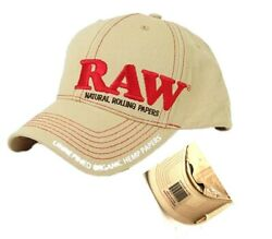 RAW Men#x27;s Rolling Papers Hat Tan Adjustable with RAW poker $19.99