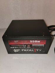 OCZ Fatal1ty 550W ATX Power Supply Modular 80 Fatality OCZ FTY550W Tested EXC $40.00