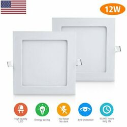 4 Pack 6 Inch LED Ceiling Lights Ultra Thin Recessed Retrofit Kit 6000K Daylight $32.99