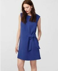 RACHEL Rachel Roy Women#x27;s Sleeveless Tie Fit Blue Dress Size 14