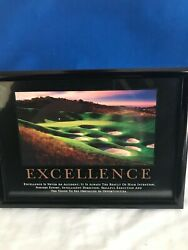 Successories Excellence Golf Motivational Picture Framed for Desktop 5 x 7 $5.00