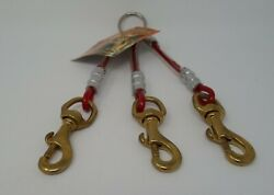 #8052 3 DOG RED CABLE COUPLER W BRASS SNAPS $14.00