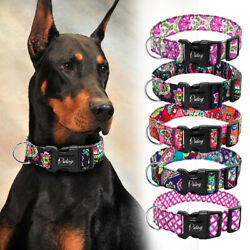 3.8cm Durable Medium Large Dog Wide Collars Colorful Print with D Ring Doberman $11.99