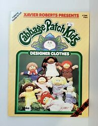 Cabbage Patch Kids Designer Clothes Pattern Book Makes 25 Outfits UNCUT