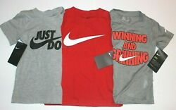 Boys 3T Nike T shirt Toddler short sleeved top you pick color New with tags $8.95