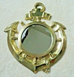 Solid Polished Brass Ships Anchor Wall Mirror 12quot; 2lbs 12oz. NEW IN BOXES $79.99