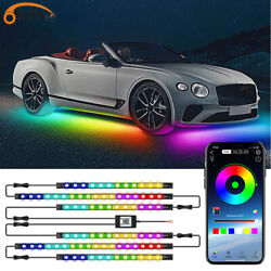 6 Pcs RGBIC Dreamcolor Underglow Underbody LED Lighting Kit Music APP Control