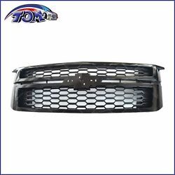 Front Grille BLACK For 2015 2020 Chevy Tahoe Suburban