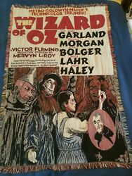 Vintage Wizard of OZ Movie Poster Woven Tapestry Throw Blanket 60quot;x42quot; $40.00