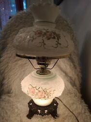 Vintage Glass Lamps With Shade And Chimney $40.00