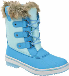 Women#x27;s Journee Collection North Waterproof Duck Boot Blue Manmade Size 7.5 M $99.95