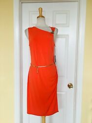JENNIFER LOPEZ orange dress size L