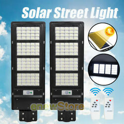 2x150W 900000LM Outdoor LED Solar Street Light Commercial for Garden Parking Lot