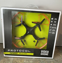 Protocol Paparazzi Drone RC Quadcopter with Camera NIB FACTORY SEALED $39.99