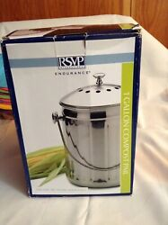 RSVP International Endurance 1 gallon compost Pail Stainless Steel $16.00