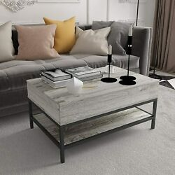 Lift Top Coffee Table with Hidden Compartment Modern Dining Table Living Room $127.99