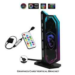 DIY Vertical GPU Bracket RGB Acrylic Graphics Card Holder VGA Stand GPU $34.00