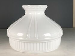 VINTAGE ANTIQUE GLASS SHADE COLEMAN ALADDIN 10quot; FITTER WHITE $39.00