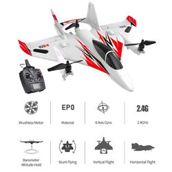JJRC MO2 2.4G 6CH 3D 6G RC Airplane Brushless Vertical Stunt LED Aircraft Gifts $125.87