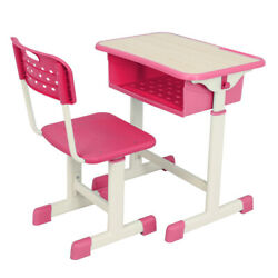 Adjustable Students Desk and Chair Kit Homework Study Writing Drawing Table Hook $93.56