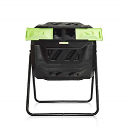 Large Compost Tumbler Bin Outdoor Garden Rotating Dual Compartment Better Air $106.22