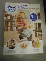Evenflo Exersaucer Sweet Skies Portable Door Jumper 4 Removable Toys $30.00