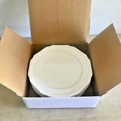 Set of 6 MIKASA ULTIMA ANTIQUE WHITE 8.5 HK400 SALAD PLATES $39.99