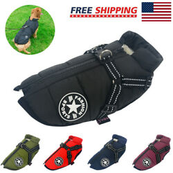Pet Supplies Dog Clothing Cotton padded Windproof Warm Reflective Puppy Coat US $11.99