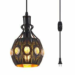 Hanging Lamps Swag Lights Plug in Pendant LightRetro StyleVintage Loft $67.19
