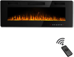 Waleaf 36 Inch Electric Fireplace Recessed And Mounted Built In Wall Fireplace $324.06