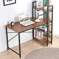IBAMA Home Office Desk and Shelves Study Writing Table with Bookshelves Ample $105.25