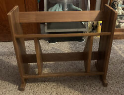Mid Century Modern 3 Tier Encyclopedia Shelf Bookcase Record Stand $159.99