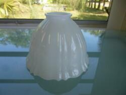 6quot; Vintage White Glass Floor Lamp Shade Fluted Design 2 1 4quot; Fitter $12.00