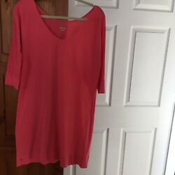 LILLY PULITZER WOMENS COVER UP DRESS SIZE MEDIUM CORAL $24.99