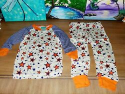 Nwot Cat Cow Boys 12 18 Mo. Stars Two 2 Piece Pajama Pants Set NEW $5.99