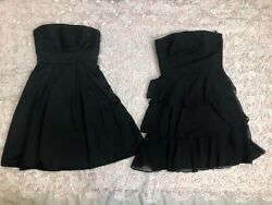 2 WHITE HOUSE BLACK MARKET BLACK DRESSES WOMENS CLOTHES SIZE 2 EUC