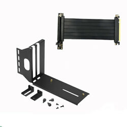 Universal Durable GPU Vertical Bracket Kits Part Holder Pci E X16 Riser Cable C $52.79