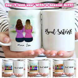 Personalized Best Friends Custom Mug gift for sister gift for friends cup $15.00