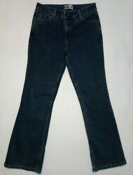 Levis Womens At waist Boot Cut Signature Dark Blue Jeans 32X30 with Template $12.95