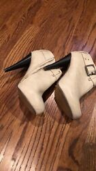 Just Fab Cute Women#x27;s Booties Light Tan Creme Color Size 10