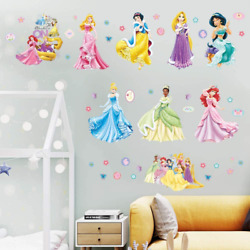 Supzone Princess Wall Stickers Girls Wall Decor Removable Art Decor Wall Decals $13.92